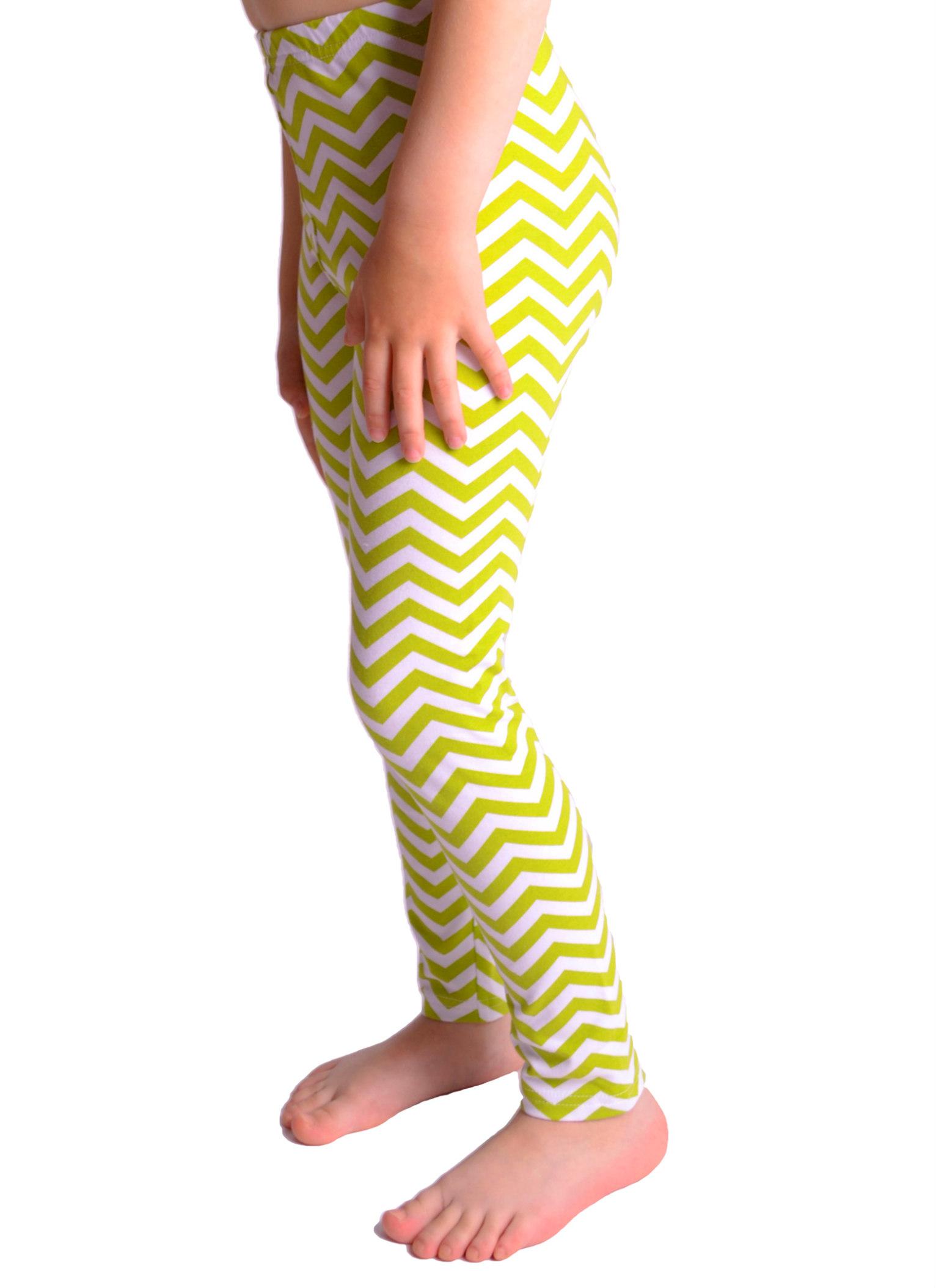 Dětské legíny (zeleno-bílé) - Oblečení Adry 9142b0d00f