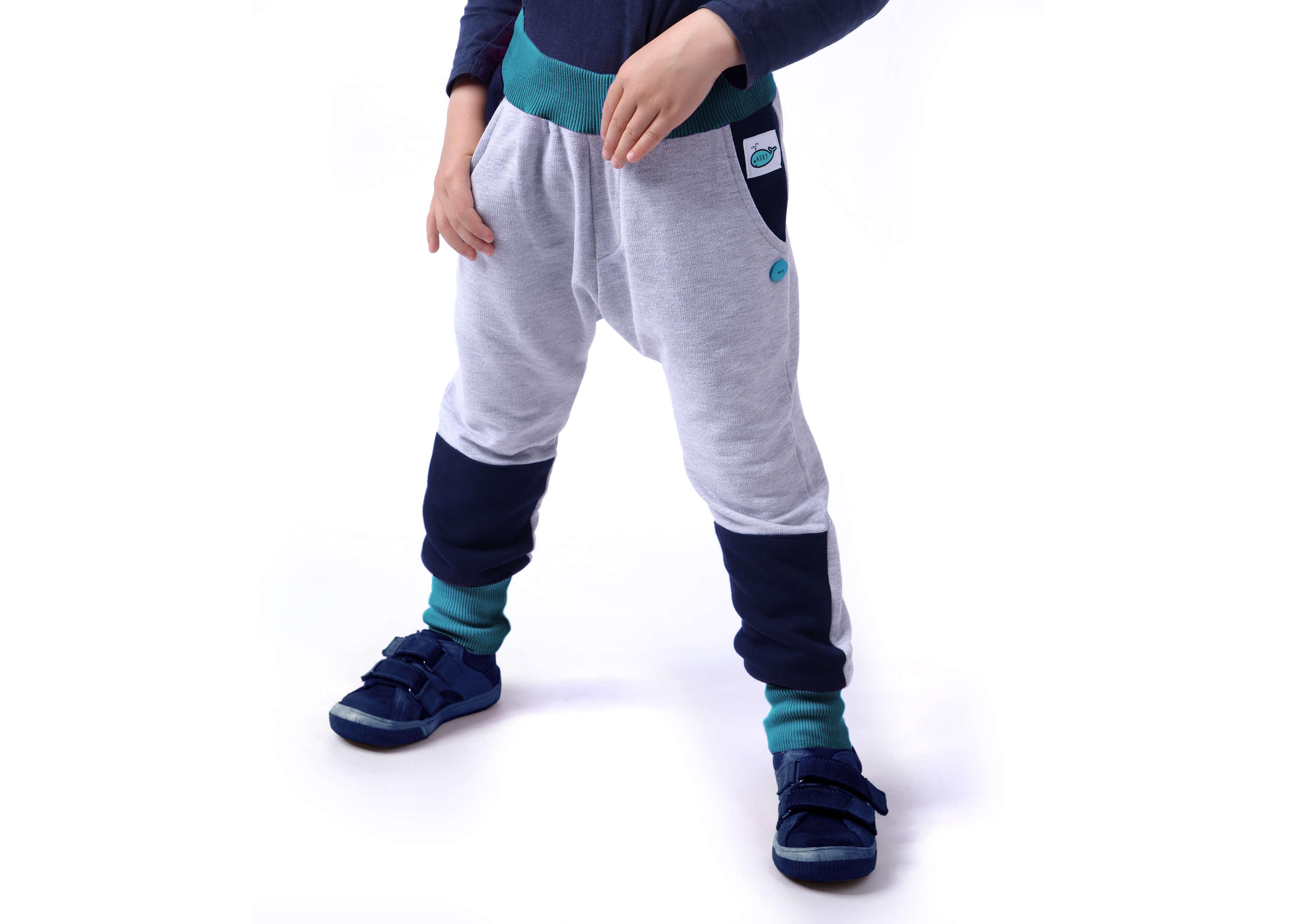 Dětské tepláky - turky (tyrkys - melé) - Oblečení Adry fe43511dbb