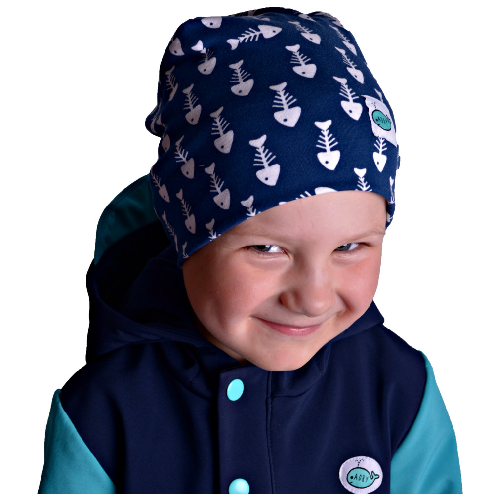 c9730995984 Dětská jarní čepice (tm.modro-bílá) - Oblečení Adry
