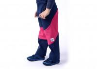407bb4eecee Dětské softshellové kalhoty (modro-cyklámenové)