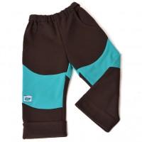 d0ebbe83b76 Dětské polo softshellové kalhoty (hnědo-tyrkysové)